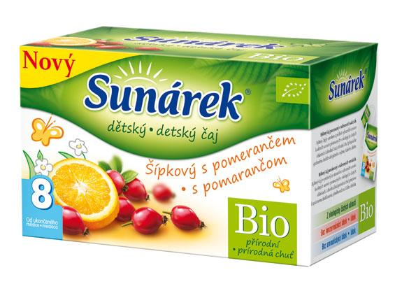 Hero Sunárek dětský čaj šípkový s pomerančem 20 x 1,5g