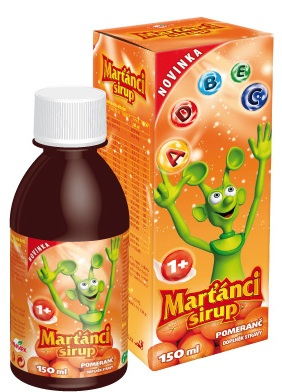 Walmark Marťánci Sirup pomeranč 150 ml