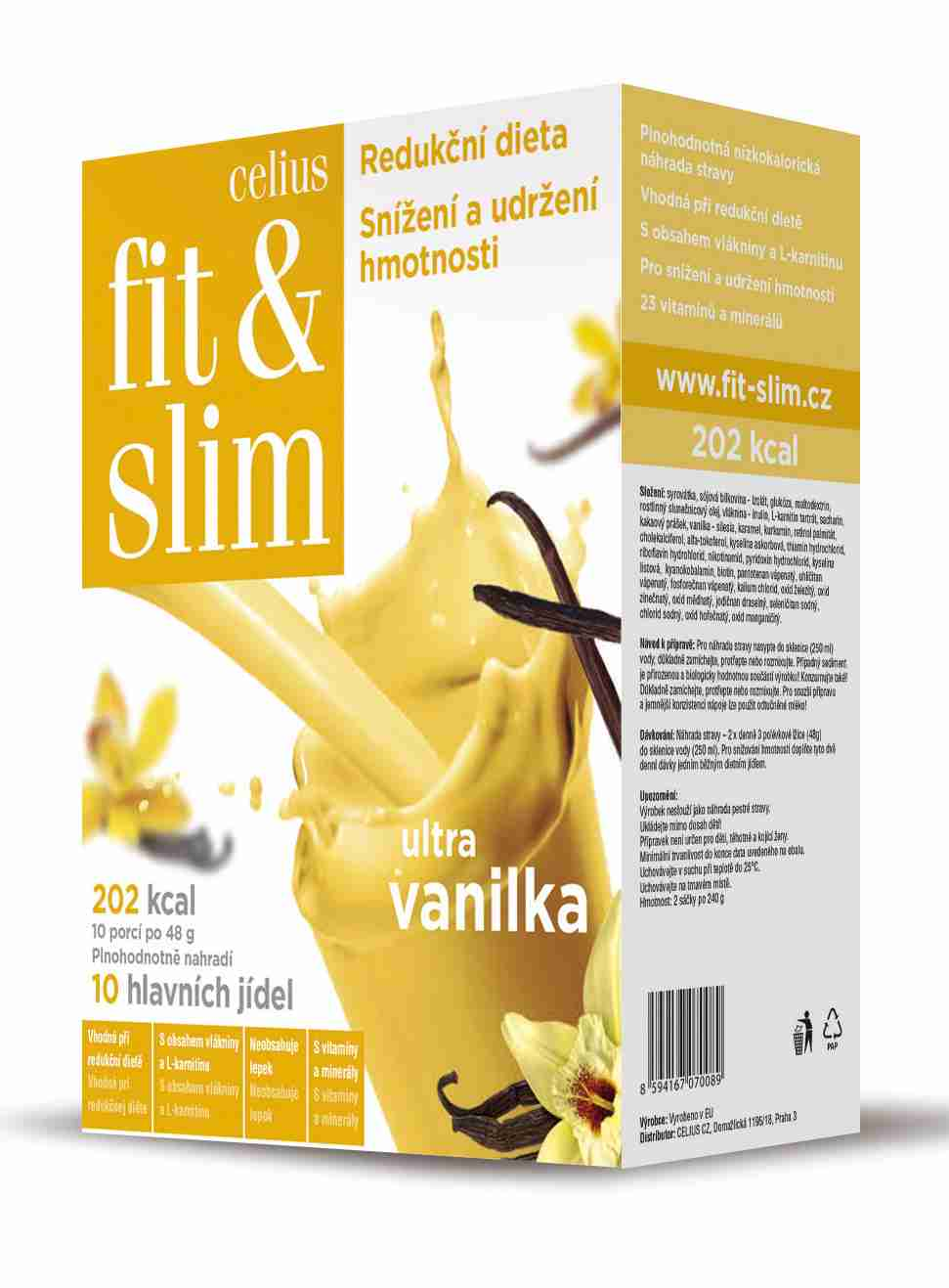 Celius Fit and Slim ultra vanilka 2x240 g