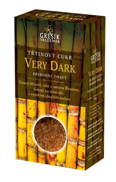 Grešík Cukr Very Dark třtinový přírodní tmavý 300 g