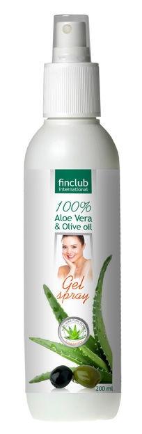 Finclub Gel spray Aloe vera & olivový olej 200 ml