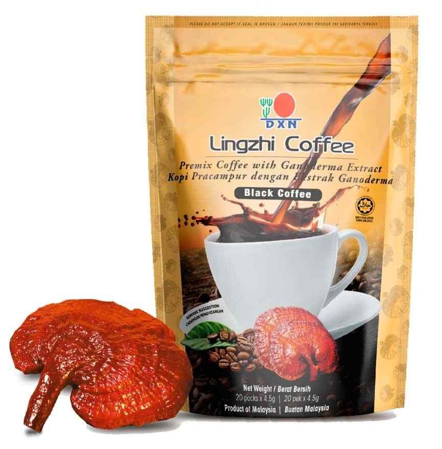 DXN Lingzhi Černá káva s Reishi 2v1 20 sáčků x 4,5g