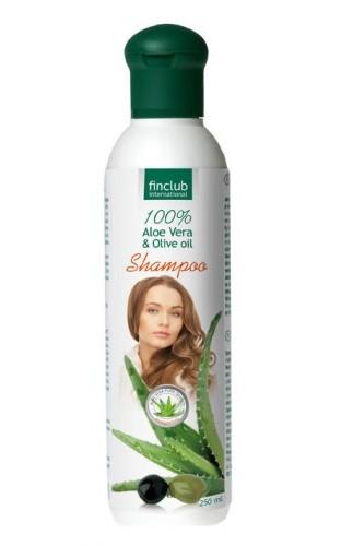 Finclub Šampón na vlasy Aloe vera & olivový olej 250 ml