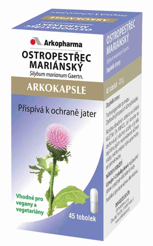 Arkopharma Laboratories Arkokapsle Ostropestřec mariánský 45 kapslí