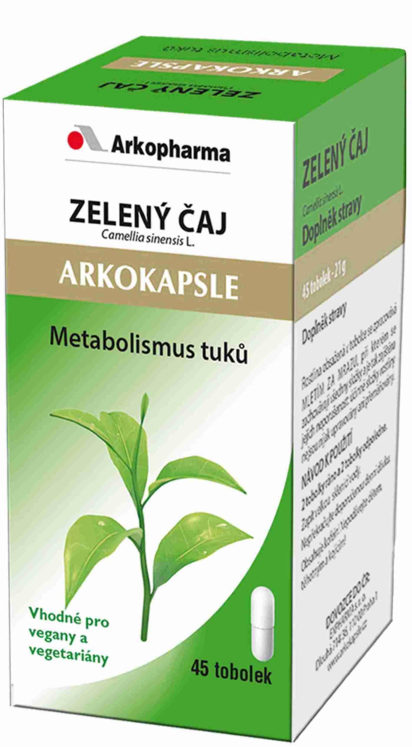 Arkokapsle Zelený čaj 45 kapslí