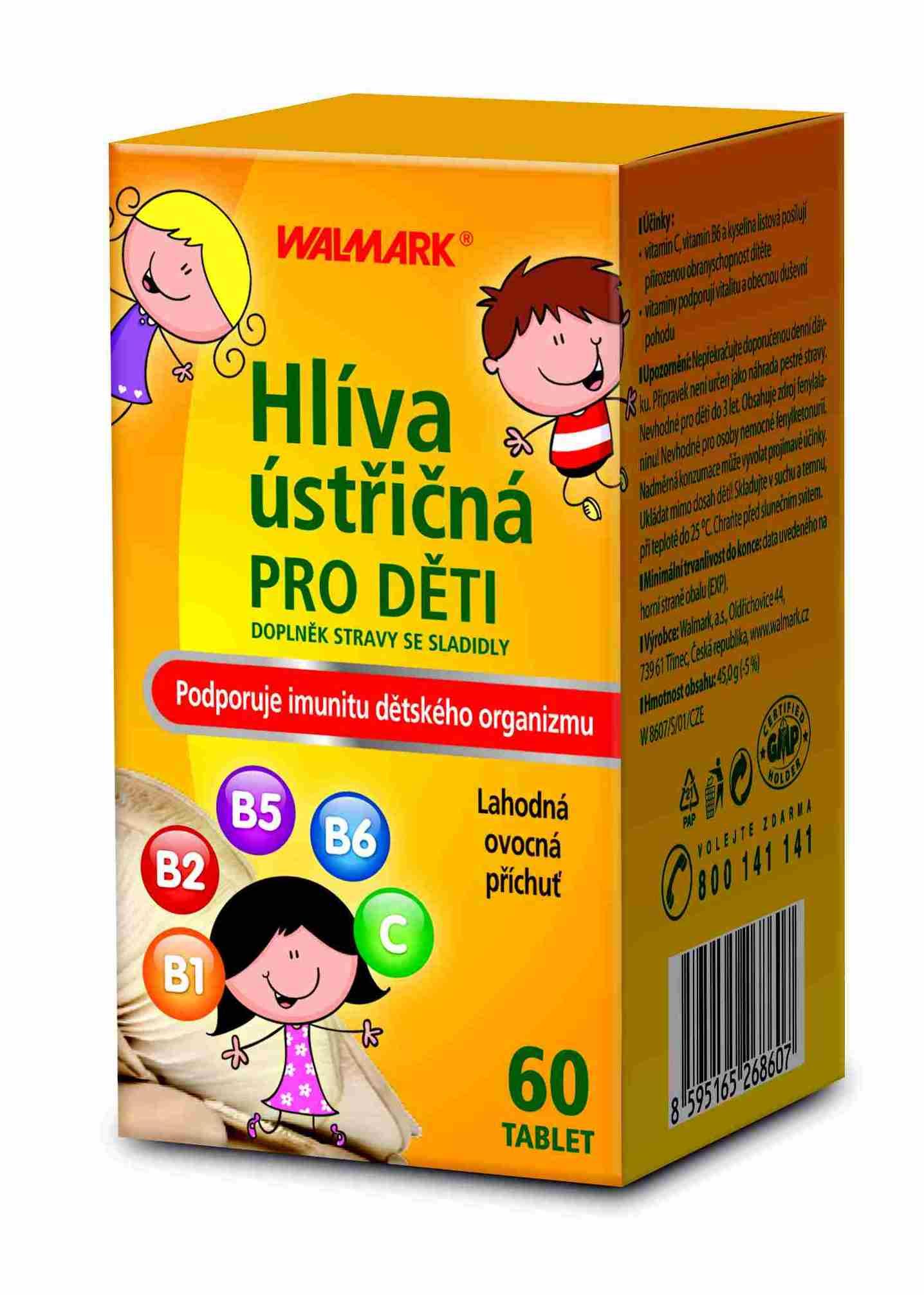 Walmark Hlíva ústřičná pro děti 60 tbl.