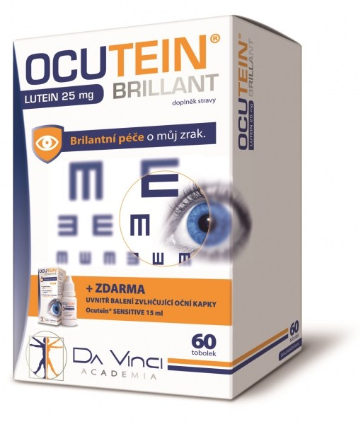 Simply You Ocutein Brillant Lutein 25 mg 60 tob.+ Ocutein® Sensitive zvlhčující oční kapky