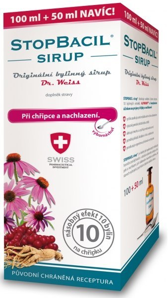 Simply You StopBacil sirup Dr. Weiss 100 ml + 50 ml ZDARMA
