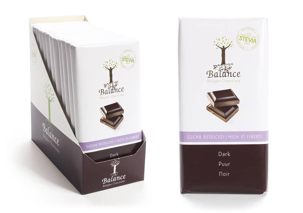 Balance hořká čokoláda se stévií bez přidaného cukru 85g