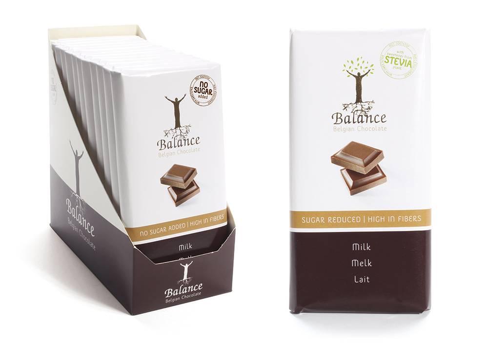 Balance mléčná čokoláda se stévií bez přidaného cukru 85 g