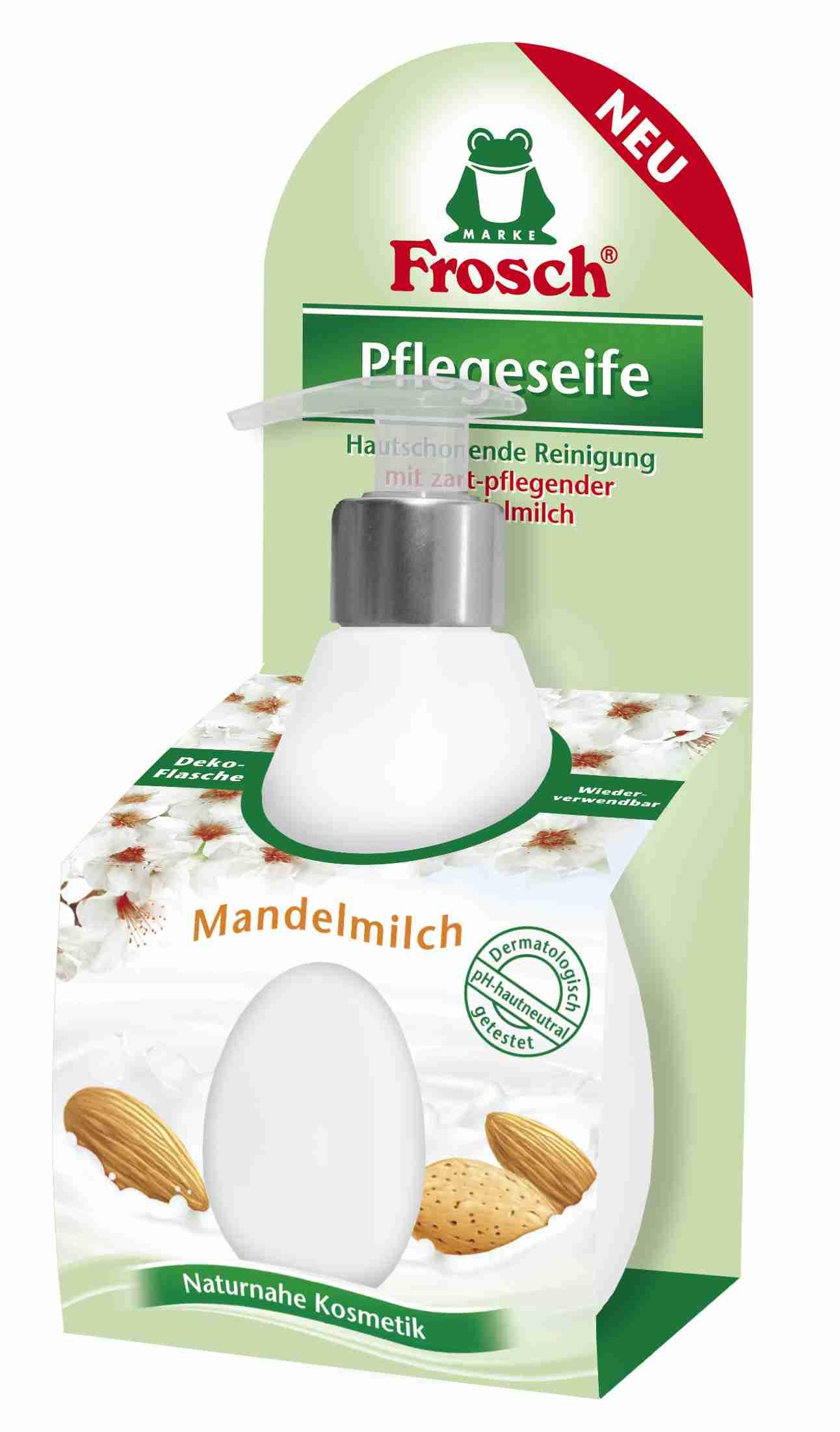 Frosch Tekuté mýdlo s mandlovým mlékem v dávkovači 300 ml