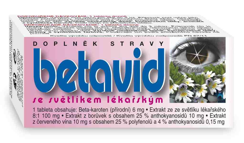 Naturvita Betavid se světlíkem lékařským 60 tbl.