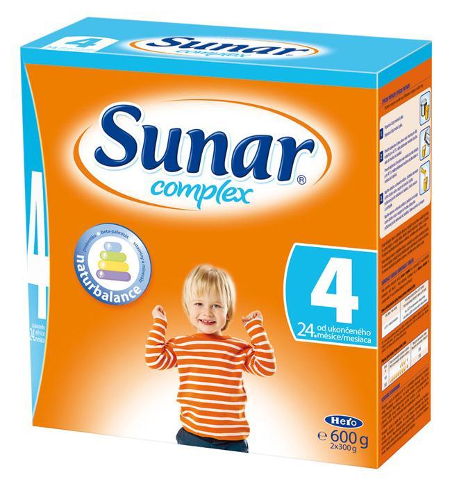 Hero Sunar complex 4 (sušené mléko) bez příchutě 600 g