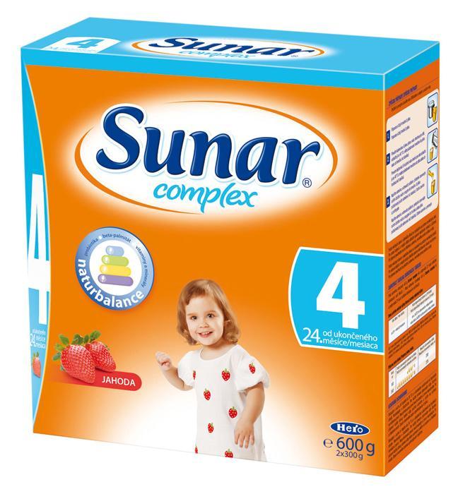 Hero Sunar complex 4 (sušené mléko) s příchutí jahoda 600 g