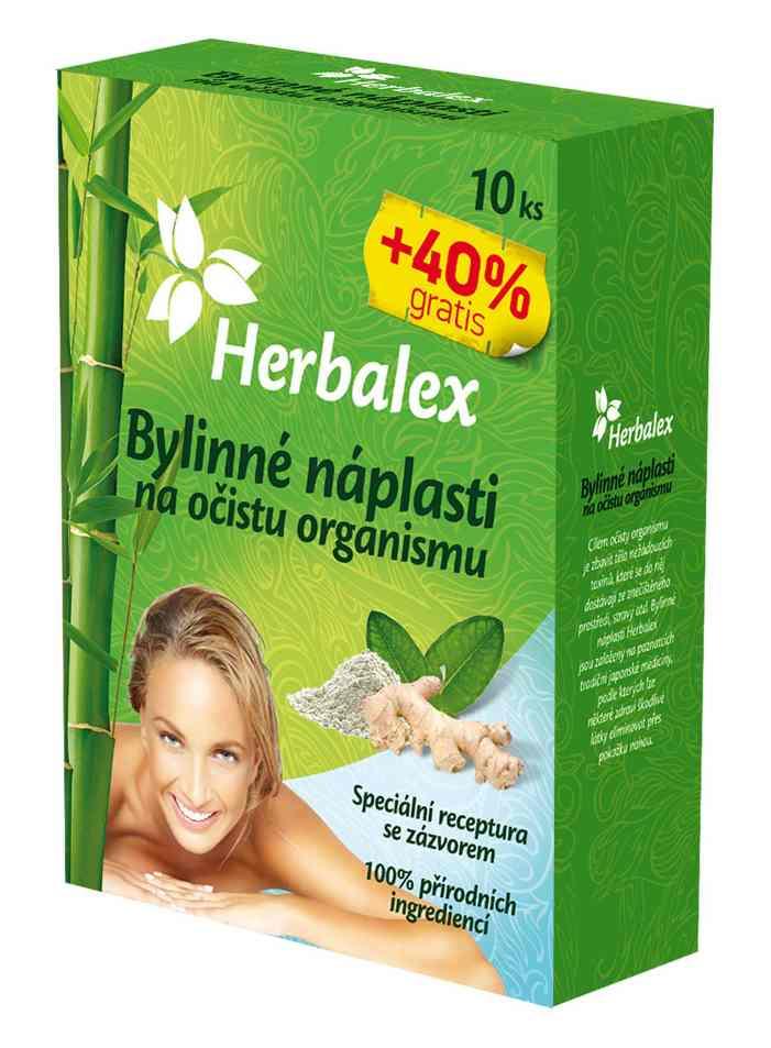 Quantec Pro Herbalex - bylinné detoxikační náplasti 10 ks + 40% ZDARMA