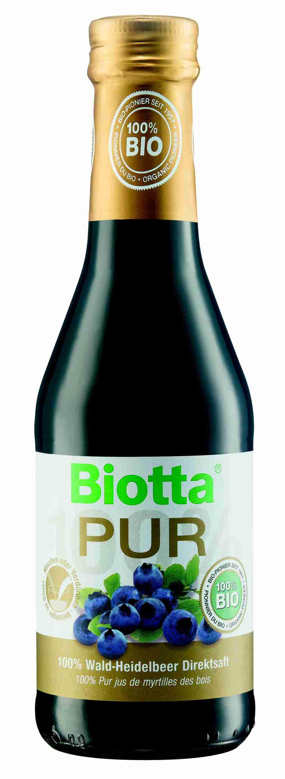 Biotta Bio PUR 100% Borůvky 250 ml