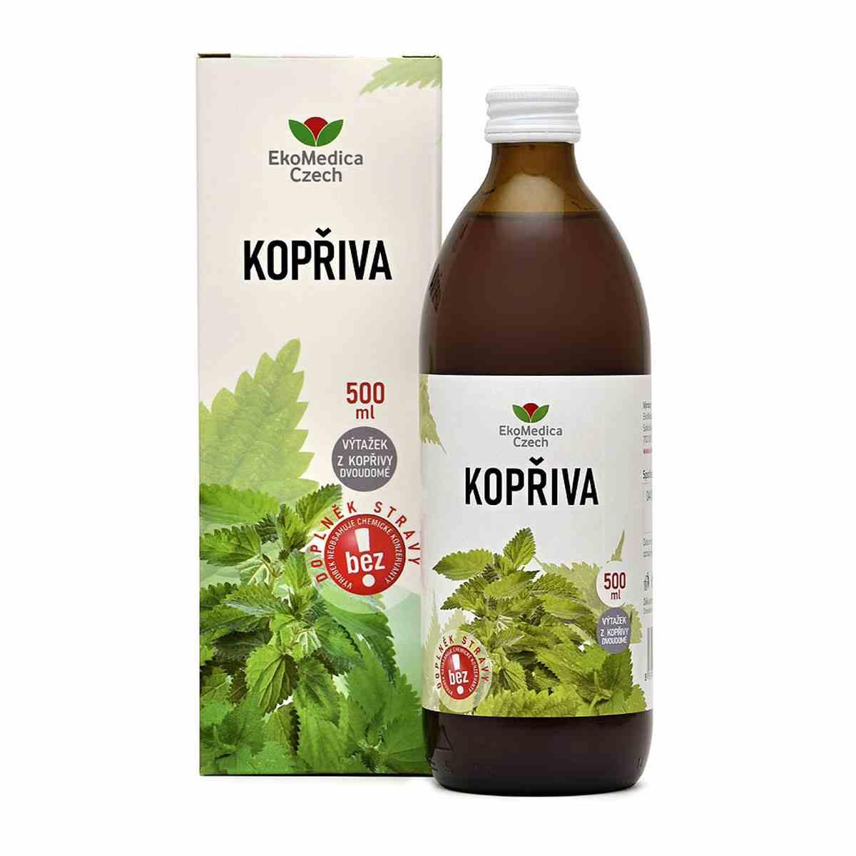 EkoMedica Czech EkoMedica Kopřiva - 99,8% šťáva 500 ml