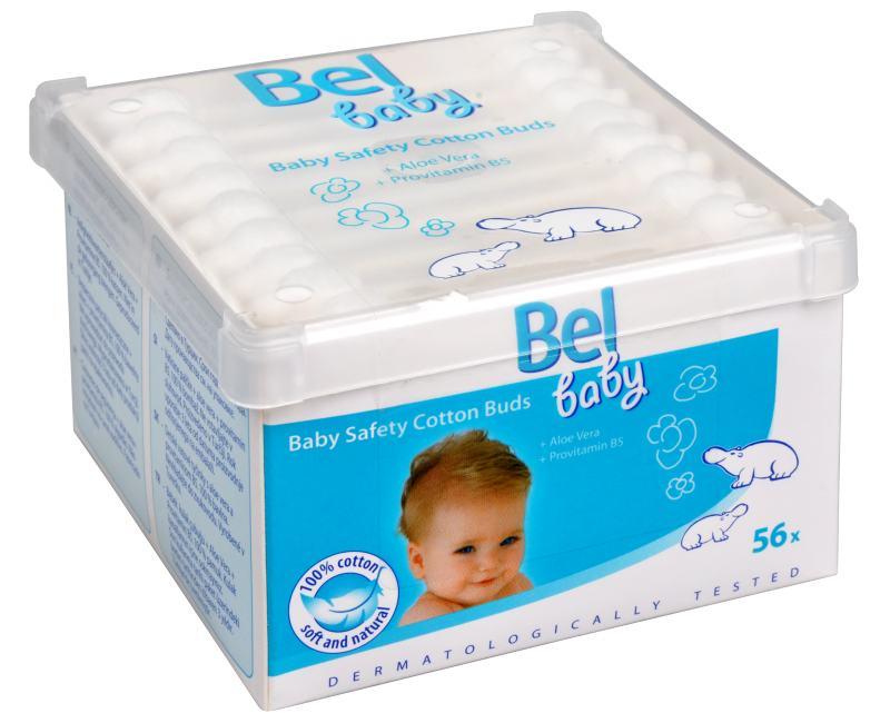 Hartmann Bel Dětské vatové tyčinky Bel Baby (Baby Safety Cotton Buds) 56 ks