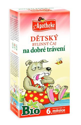 Mediate Apotheke Bio Dětský čaj na dobré trávení 20x1.5g