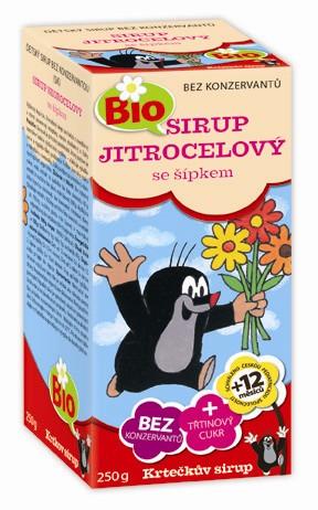 Krtečkův sirup Bio Jitrocelový se šípkem 250 g