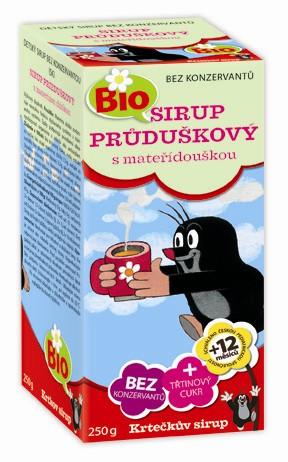 Apotheke Krtečkův sirup Bio Průduškový s mateřídouškou 250 g