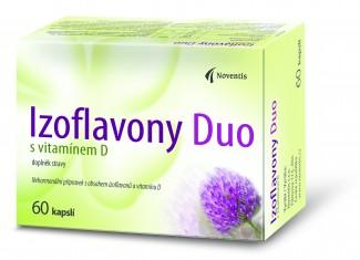 Noventis Izoflavony Duo s vitamínem D 50 kapslí +10 kapslí ZDARMA