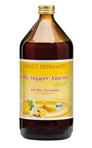 Sanct Bernhard Bio Zázvorovo-ananasová šťáva s kurkumou 1 l