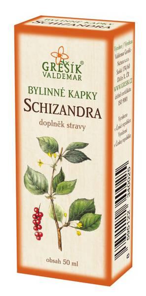 Grešík Schizandra bylinné kapky 50 ml