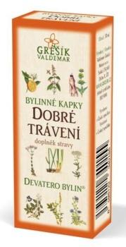 Grešík Dobré trávení bylinné kapky Devatero bylin 50 ml