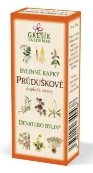 Grešík Průduškové bylinné kapky Devatero bylin 50 ml