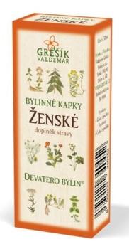 Grešík Ženské bylinné kapky Devatero bylin 50 ml