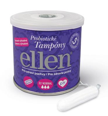 Ellen Ab Ellen Probiotické tampóny - ECO Normal 22 ks