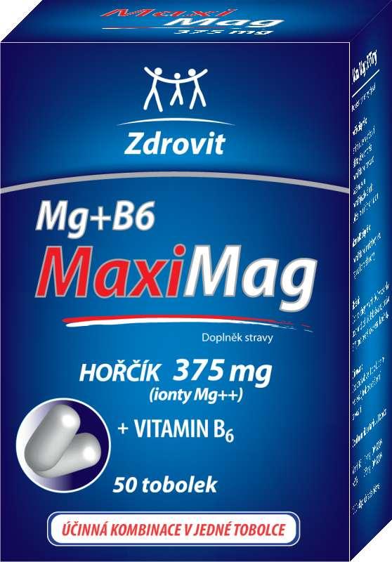 Zdrovit MaxiMag Hořčík 375 mg + B6 50 tob.