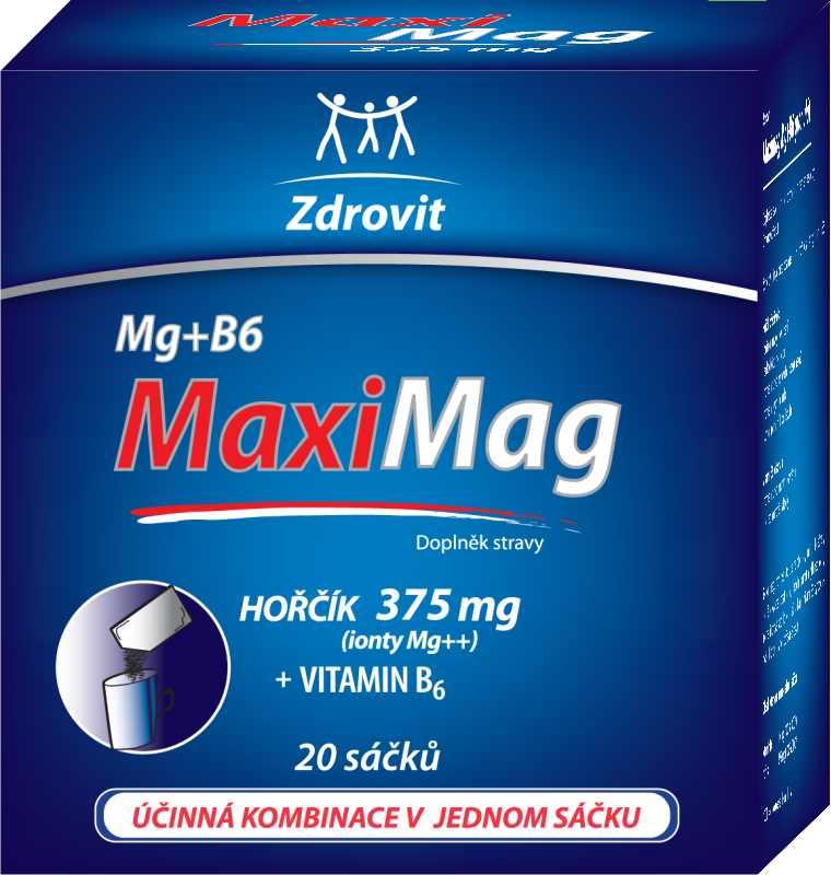 Zdrovit Maximag Hořčík 375 mg+ B6 granulát 20 sáčků