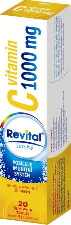 Vitar Revital Vitamin C 1000 mg s příchutí citrónu eff. tbl. 20