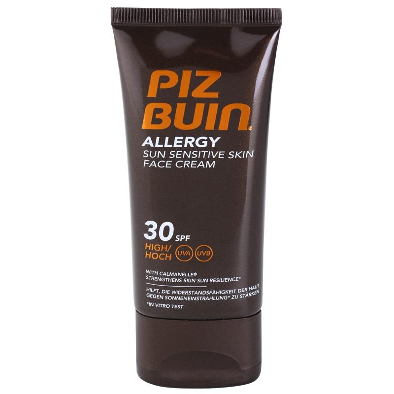 Piz Buin Opalovací krém na obličej SPF 30 (Allergy Face Cream) 50 ml