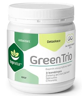 Topnatur Green Trio - spirulina, chlorella, zelený ječmen Medicol 180 tbl.