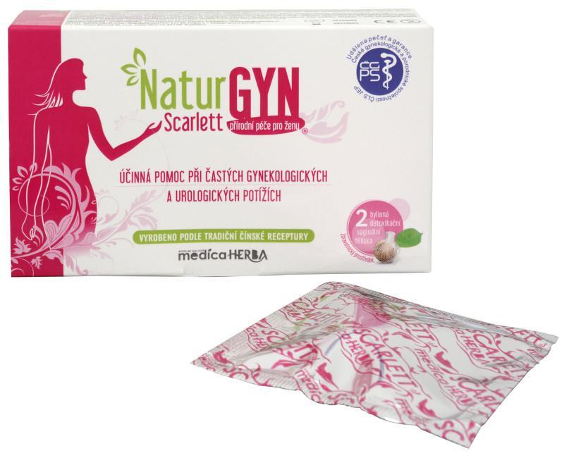 NaturGYN Scarlett - bylinná detoxikační vaginální tělíska 2 ks