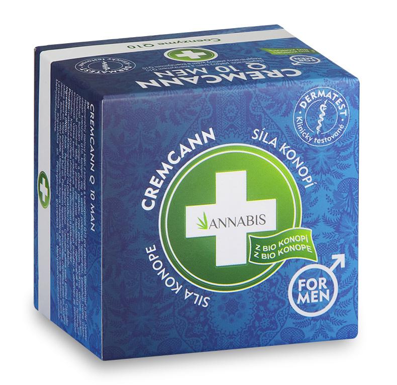 Annabis Cremcann Q10 for Men - konopný regenerační pleťový krém pro muže 15 ml
