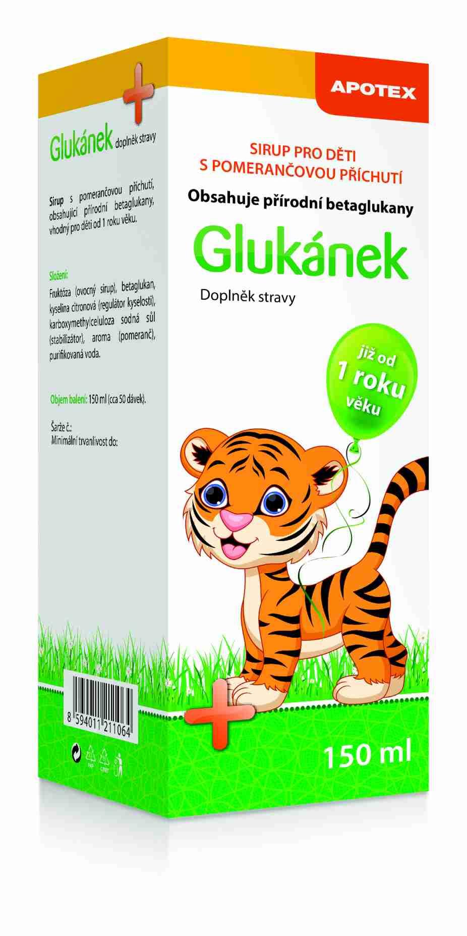 Gynpharma Glukánek sirup pro děti 150 ml
