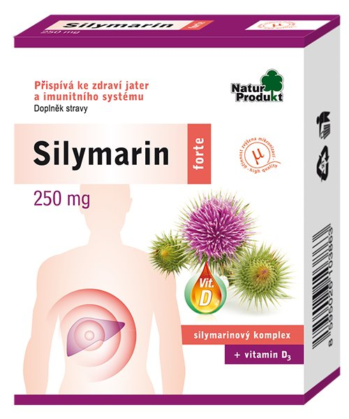 Favea Silymarin forte - 250 mg silymarinu + vitamin D 40 tbl.