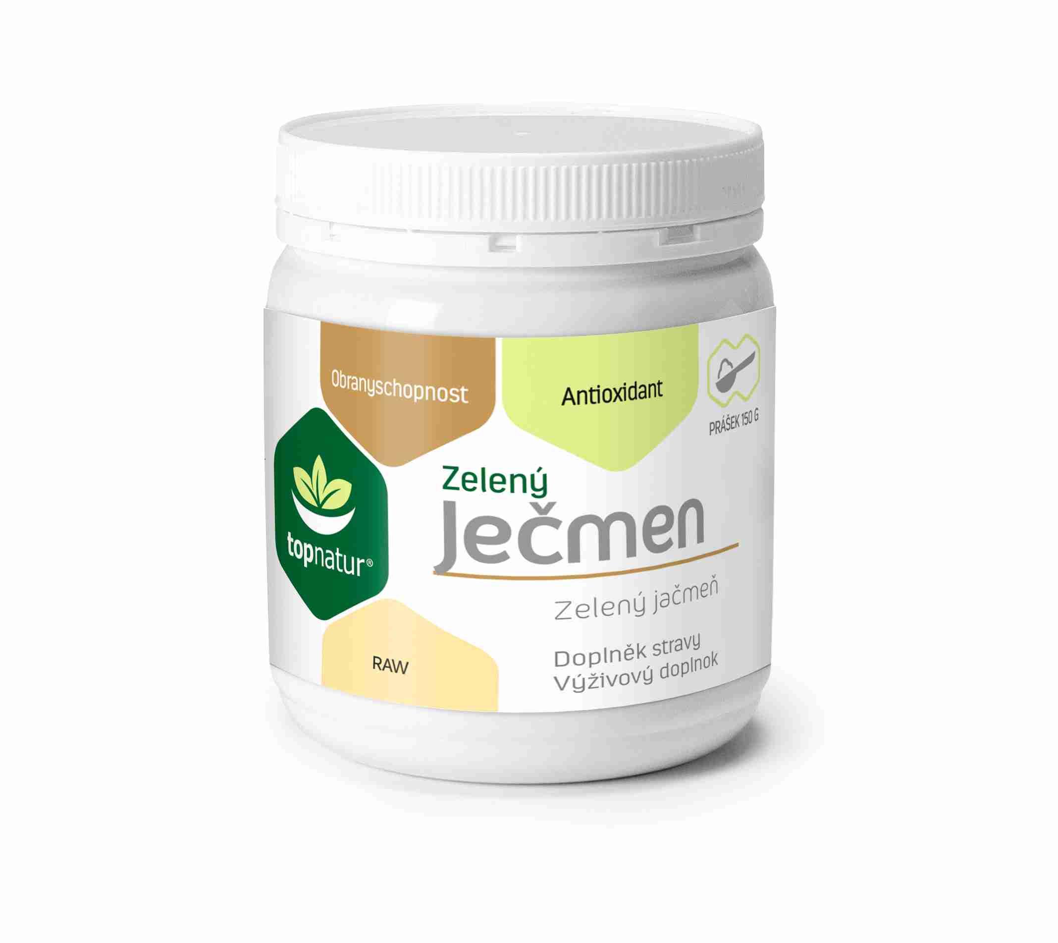 Topnatur Mladý zelený ječmen prášek Medicol 150 g