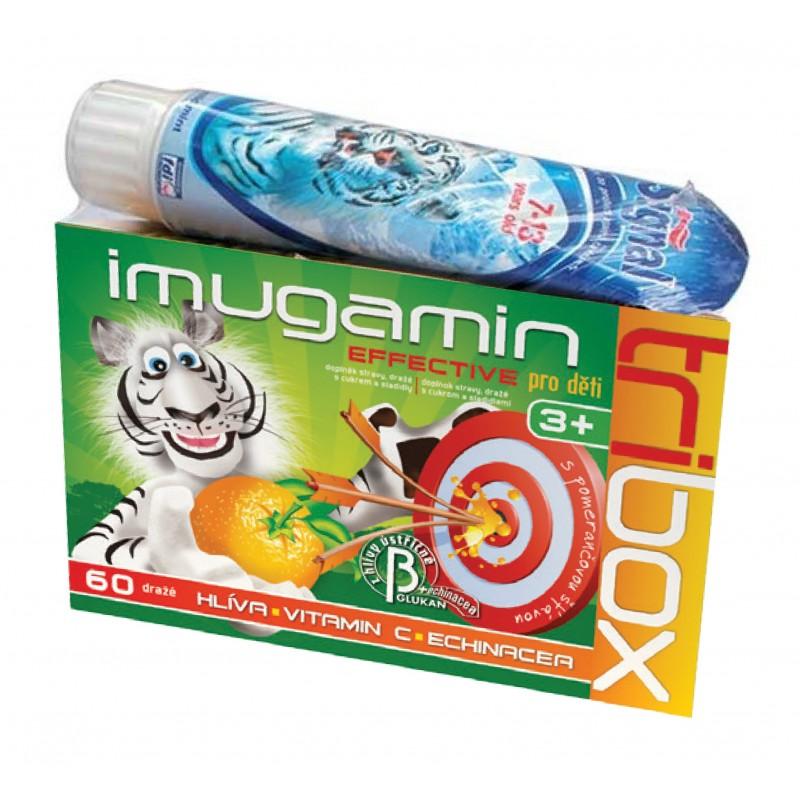 Rapeto Imugamin Effective pro děti Tribox 60 tbl. + zubní pasta Signal
