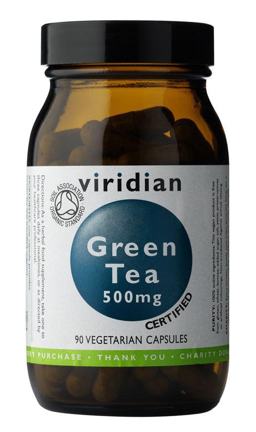 Viridian 100% Organic Green Tea 90 kapslí