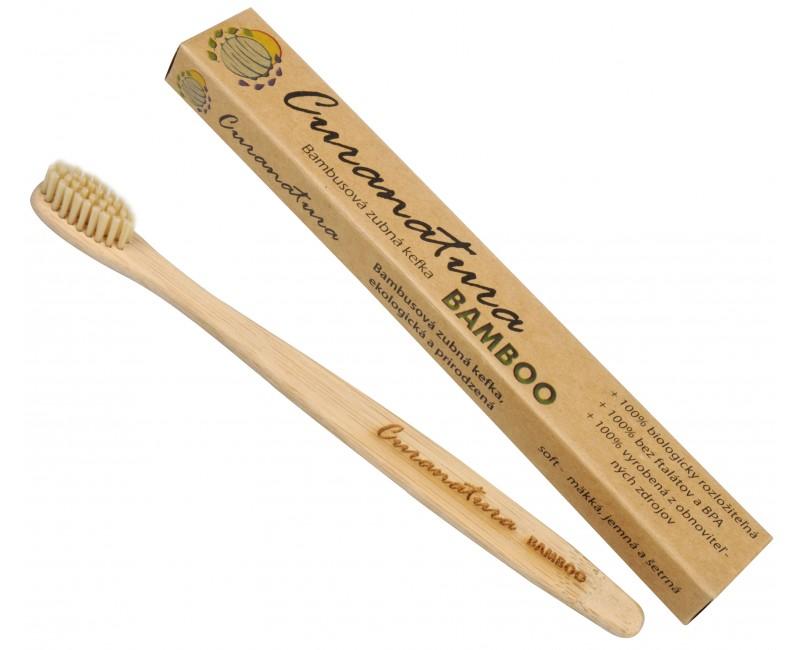 Curanatura Zdravý zubní kartáček Bamboo - zelená volba 1 ks