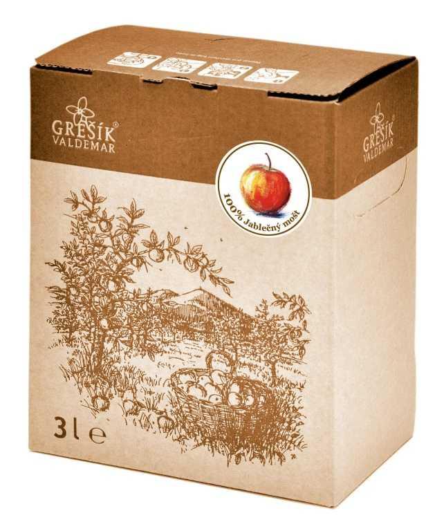 Grešík 100% Jablečný mošt ovocná šťáva 3 l