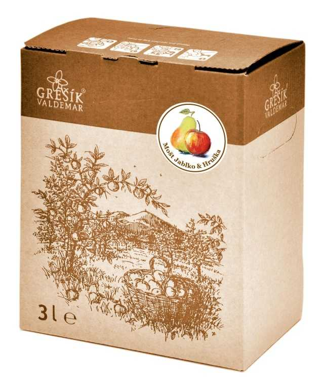 Grešík Mošt Jablko & Hruška ovocná šťáva 3 l