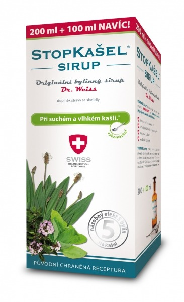 Simply You StopKašel sirup Dr. Weiss 200 ml + 100 ml ZDARMA