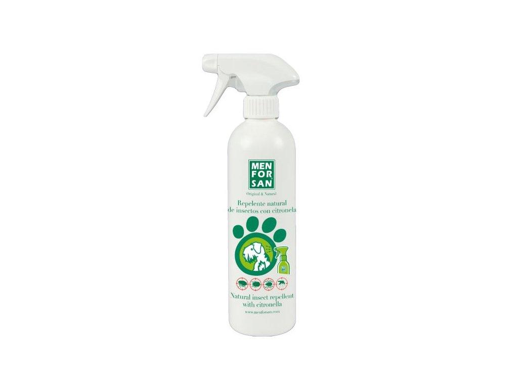 Menforsan Přírodní repelent pro psy proti hmyzu s extraktem z citronely Balení: 500 ml