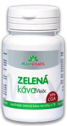 Maxivitalis Zelená káva Max 60 tob.